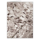Black White Abstract Wet Grass Dew Texture Nature Card