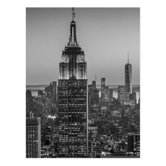 Black & White Aerial View of New York