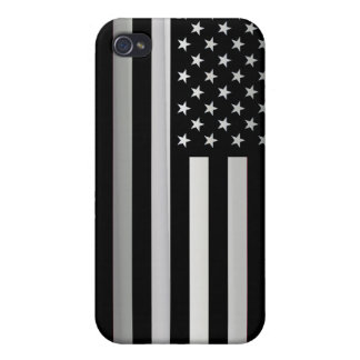 Black White American Flag iPhone 4/4S Cases