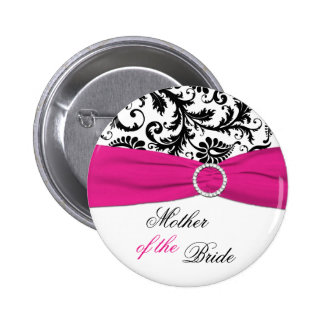 Black White and Fuchsia Mother of the Bride Pin