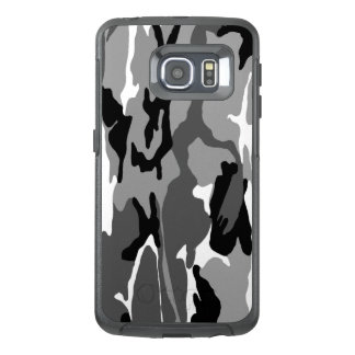 Black White and Gray Arctic Camo OtterBox Samsung Galaxy S6 Edge Case