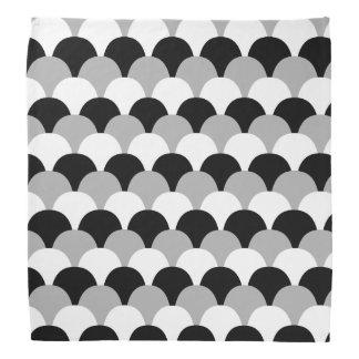 Black, White and Gray Gumdrop Pattern Do-rag