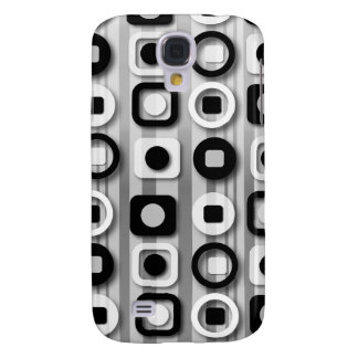 Black White and Gray Modern Pattern Galaxy S4 Case