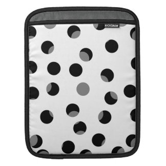 Black, white and gray spotty pattern. iPad sleeve