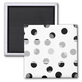 Black white and gray spotty pattern fridge magnets