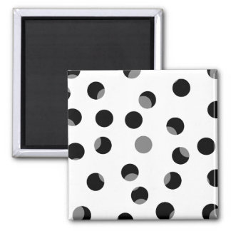 Black white and gray spotty pattern magnet