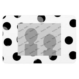 Black white and gray spotty pattern rectangle magnets