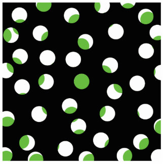 Black, White and Green Spotty Pattern. Photo Sculpture Magnet