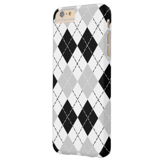 Black White and Grey Argyle Barely There iPhone 6 Plus Case