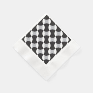 Black, white and grey circles disposable serviettes
