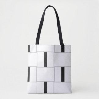 Black White and Grey Colour Blocks Tote Bag