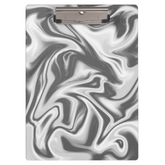 Black, White and Grey Marbled Clipboard