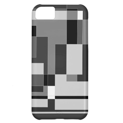 Black, white and grey square design. iPhone 5C cover