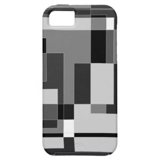 Black, white and grey square design. iPhone 5 covers