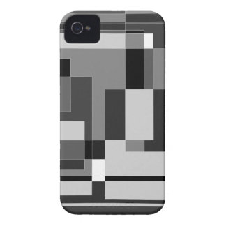 Black white and grey square design iPhone 4 cases