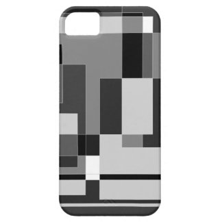 Black white and grey square design iPhone 5 cover