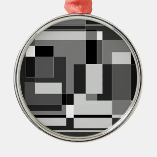 Black white and grey square design ornaments