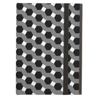 Black, White and Grey Tessellation Pattern Cover For iPad Air