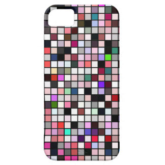 Black, White And Jewel Tones Squares Pattern iPhone 5 Covers