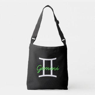 Black, White and Lime Green Gemini Bag