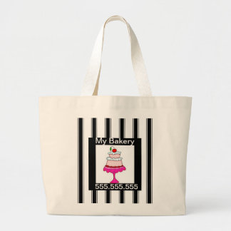 Black,white and pink, Bakery Jumbo Tote Bag