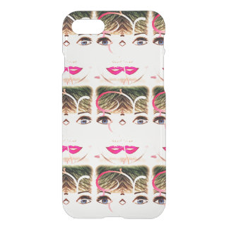 Black,White And Pink Pretty Girl Iphone Case