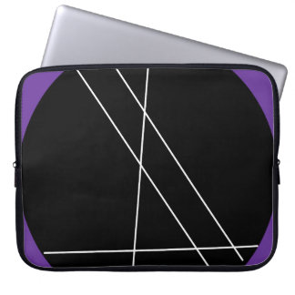 Black, white and purple abstract. laptop sleeve