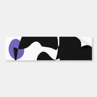 Black, White and Purple Bumper Sticker