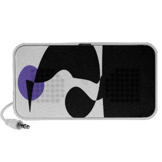 Black, White and Purple Travelling Speaker