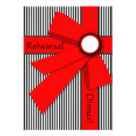 Black White and Red Gift Bow Rehearsal Custom Announcements