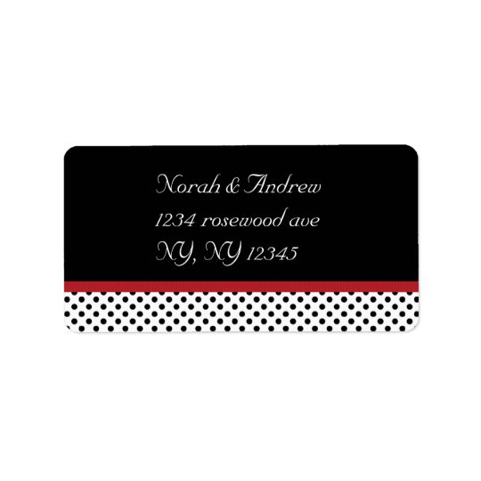 Black, white and red polka dotsAvery Label Address Label