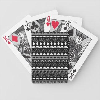 Black White Animals Modern Stripes Pattern #2 Bicycle Playing Cards