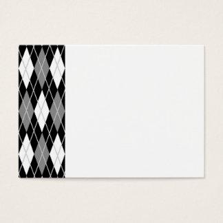 Black White Argyle Business Card