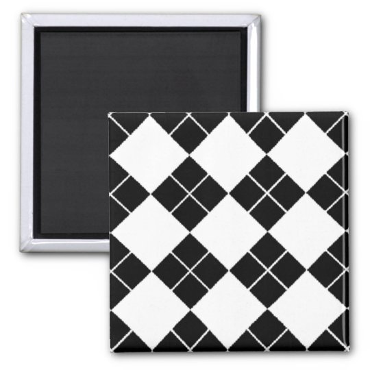 Black & White Argyle Magnet