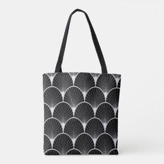 Black & White, Art Deco, Fan Design Tote