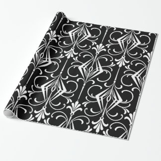 Black & White Art Deco Pattern Wrapping Paper