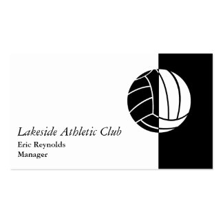Black White Athletic Ball Logo Pack Of Standard Business Cards