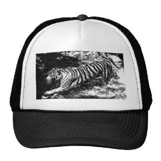 Black & White Attacking Tiger Hat