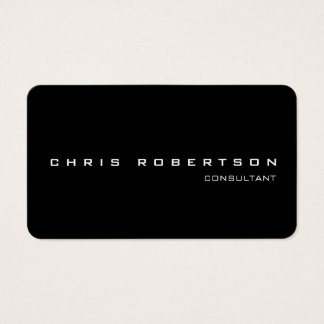 Black White Attractive Charming Business Card