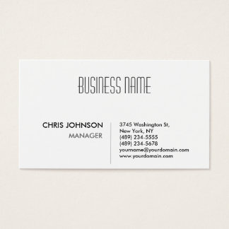 Black & White Attractive Manager Business Card