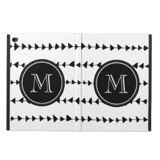 Black White Aztec Arrows Monogram