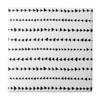 Black White Aztec Arrows Pattern Tile