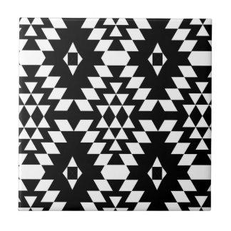 Black & White Aztec Pattern Tile