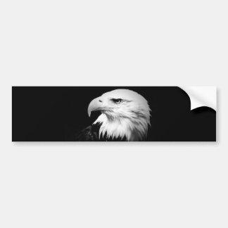 Black & White Bald Eagle Bumper Sticker