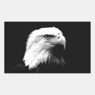 Black White Bald Eagle Sticker
