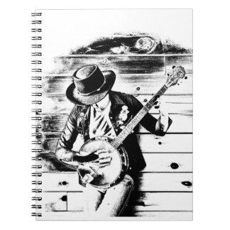 Black & White Banjo Man - Notebook