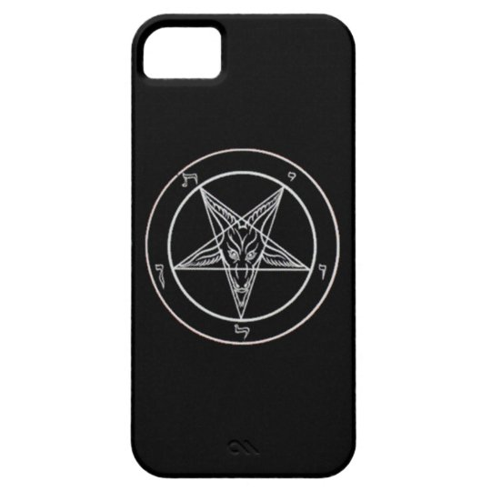 Black/White Baphomet Phone Case