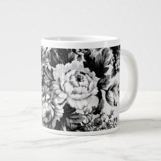 Black & White Baroque Abstract Arabesque Patterns Jumbo Mug