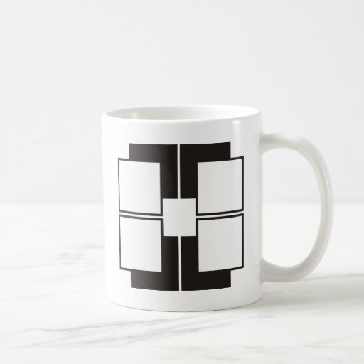 black white basic white mug