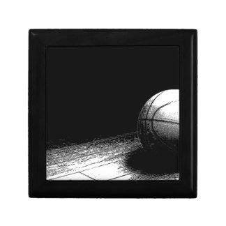 Black White Basketball Art Small Square Gift Box